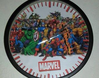 clock wall decor super hero marvel
