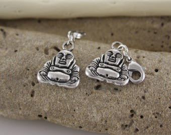 Buddha charm in antique silver