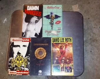 80's Hair metal VHS lot