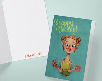 Happy Beeday Card