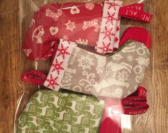 Personalised Mini Christmas Stockings Chritmas Eve Box Filler