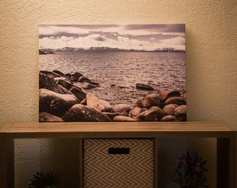20 x 30 in Canvas Photo Of A Rocky Beach In Lake Tahoe