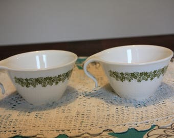 Set of 2 Vintage Corelle Tea Cups in Crazy Daisy or Spring Blossom Design