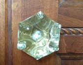Vintage Large Glass Cabinet or Drawer Knob