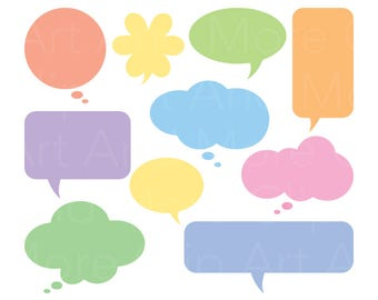 Speech Bubble, Thought Bubble, Text Bubble Clipart Clip Art - Personal and Commercial Use