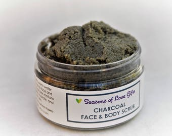 Charcoal Face Scrub - Face Scrub - Charcoal Face Wash - Charcoal Soap - Sugar Scrub - Activated Charcoal - Face Wash -  Face Sugar Scrub