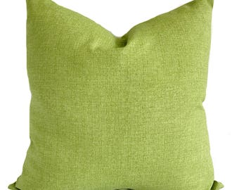 Outdoor cushion cover, Patio cushions, Outdoor pillow cover, Outdoor throw pillow, Green outdoor pillows, Lumbar pillow, 7 sizes available
