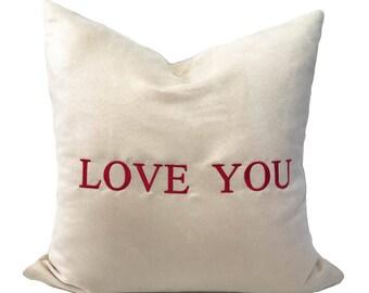 valentine pillow cover 16x16 valentine throw pillow love pillow cream throw pillow - Valentine Pillow
