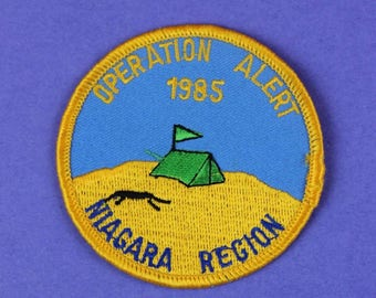 Operation Alert 1985 Niagara Region Vintage Boy Scout Badge