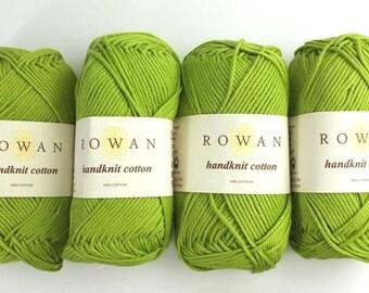 Rowan Handknit Cotton color Gooseberry 219 green, cotton yarn