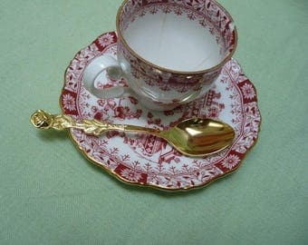 little gold plated  demitasse spoon, stainless steel Japan