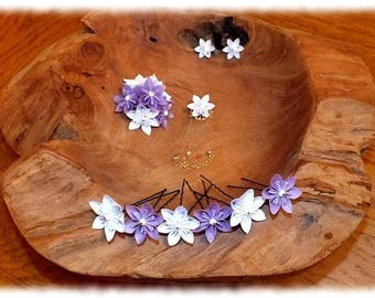P & C brides... TO order - origami kusudama flower ornament