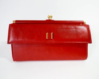 Vintage Ladys Leather Clutch Wallet / New / Unused / St. Thomas Wallet / ALifetimeofVintage