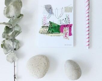 "Map postcard ""feet"", 5, 10 x 14, 7cm"