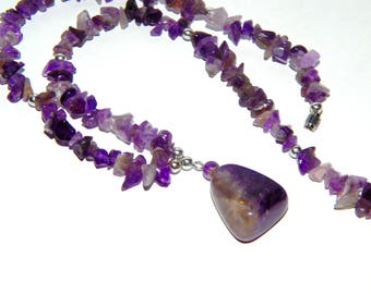 Amethyst Necklace | Amethyst Bead Necklace | February Birthstone Necklace | Amethyst Jewelry | Crystal Jewelry | Healing Jewelry