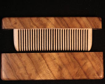 Wooden comb in a chest of chestnut sovet