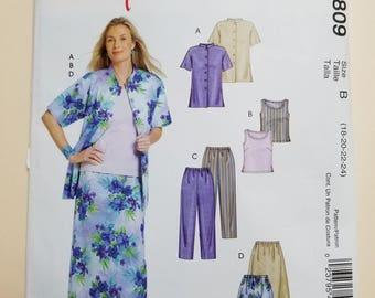 McCall's Pattern Size 18-24  #M4809