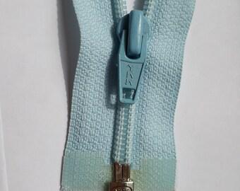 Glacier blue nylon 5 vintage zipper divisible size 5 (YKK 901) zipper Cremallera cipzár молния cerniera, fermeture à glissière רוכסן