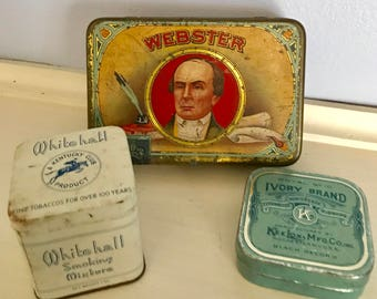 Vintage Tin Collection (Set Of 3)