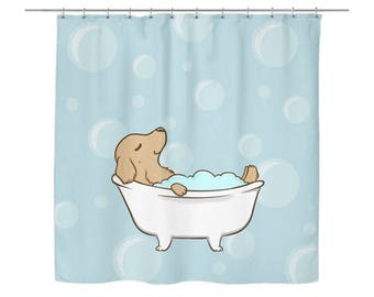 High Quality Golden Retriever Shower Curtain, Dog Shower Curtains, Bath Curtain,  Bathroom Decor Bathroom Curtains
