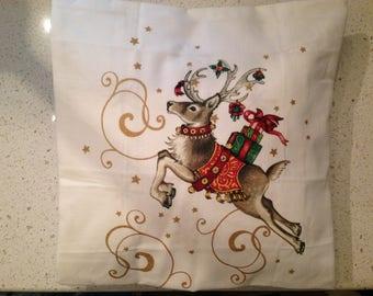 Christmas Deer Pillow