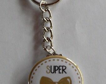 Cadeau Témoin de Mariage Badge Porte clés 38mm  Super Témoin Homme.
