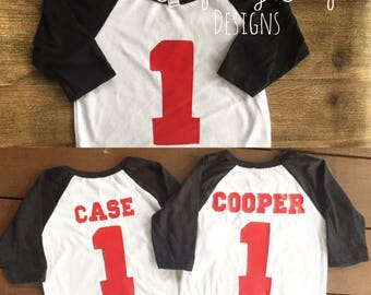 Birthday Raglan Shirt Personalized Baseball Jersey