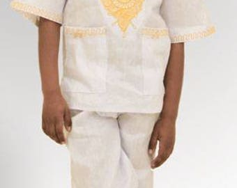 African Brocade Boys Set