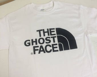Mens wu tang clan ghost face killer tshirt in sizes small medium large and xl hiphop rap music hipster festival 90's beats