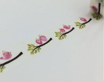 Love birds - Deco tape bird Washi tape
