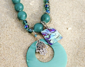 Malibu beach necklace/collier