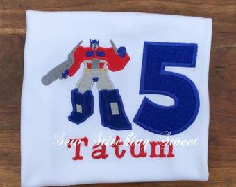 Transformers Birthday Shirt, Transformers Birthday, Personalized Transformers Shirt, Personalized Transformers, Boys Transformers Shirt