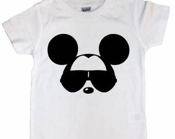 Mickey with Sunglasses Tee // Mickey Mouse // Cool Mickey // Kids T-shirt // Kids Tee // Kids Shirt
