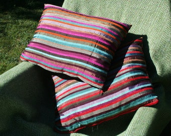 rectangular pillows - silky fabric
