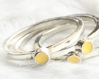 Unusual stackable ring- Ethical rings- Rainbow ring- Stacking rings- Stackable ring- Stackable sterling silver rings- Gift for her- Gift