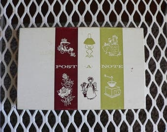 FREE SHIPPING! Boxed Set of Post A Notes Vintage Stationery Greetings Postcards
