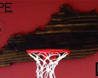 Basketball STATE Goal Basketball Wall Decor.  Basketball Hoop, Basketball Rim. Great gift for him, gift for husband, gift for her.