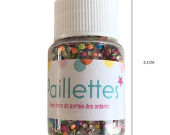 Multicolored round glitter - 20 grams