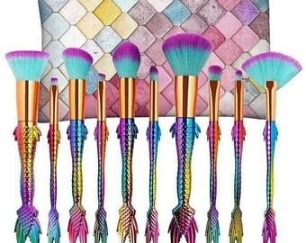 Diva Cosmeticz Mermaid makeup brushes.