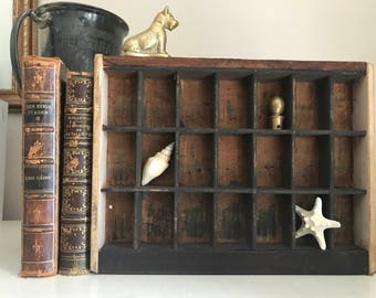Vintage Typesetters Tray, Printers Drawer, Shadow Box