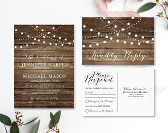 wedding invitation set template diy wedding invitation set cheap wedding invitation rsvp postcard - Cheap Wedding Invitations Sets