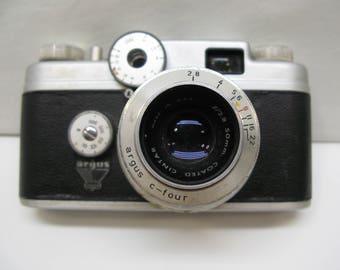 Vintage Argus C-Four Film Camera with 50mm Cintar Lens