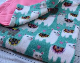 Oversize llama baby blanket(3 piece set)  and burp cloths ,baby shower gift,nursery,baby gift set,floor blanket, toddler blanket, desert