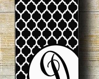 FLASH SALE 30% OFF Black and White Monogram iPhone Case, iPhone 6 Plus case, iPhone 5 Case, Personalized iPhone Case