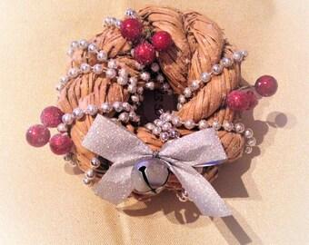 Christmas Decoration, Small Christmas Wreath Decoration, Tree Decoration