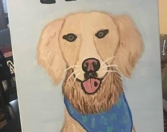 Custom Dog Canvas Painting