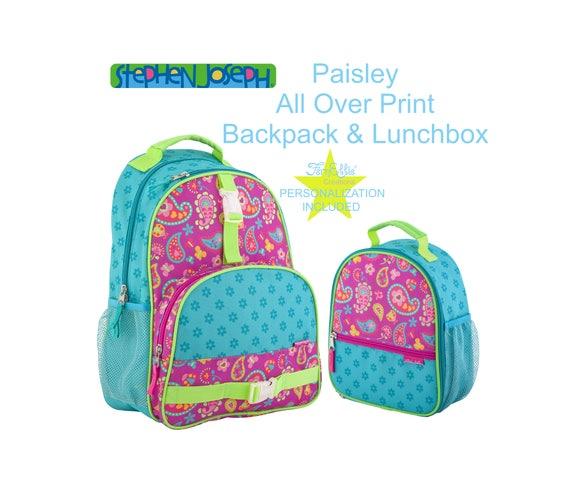 Stephen Joseph Paisley All Over Print Backpack & Lunchbox