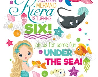 KIERA - Mermaid Invitation
