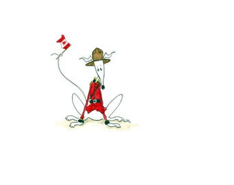 Nellie Doodles A4 print - Canadian Mountie