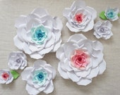 CUSTOM ORDER - Handmade Paper Flowers - Paper Roses - Floral Backdrop - Baby Shower Flower Backdrop - Handmade Paper Roses - Party Decor